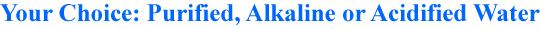 Your choice: The Alkal-Life makes purified, alkaline or acidified